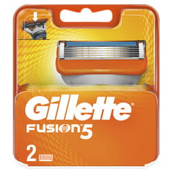 Кассеты сменные для бритья GILLETTE Fusion (Жиллет Фьюжин) 2 шт