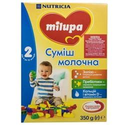Смесь молочная детская Нутриция Milupa (Милупа) 2 от 6 до 12 месяцев 350 г