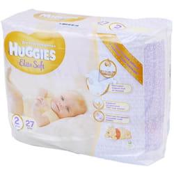 Подгузники для детей HUGGIES (Хаггис) Elite Soft (Элит софт) 2 от 4 до 6 кг 27 шт