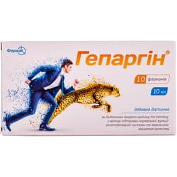 Диетическая добавка для поддержания функций гепатобилиарной системы и укрепления организма Гепаргин раствор в флаконах по 10 мл 10 шт