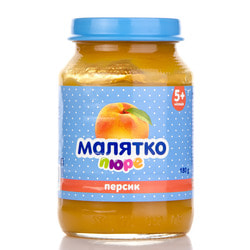 Пюре фруктовое детское Малятко с персиком 180г