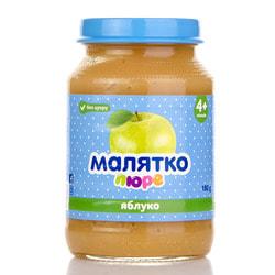 Пюре фруктовое детское Малятко Яблоко (стекло) 180г