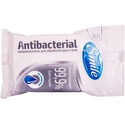 Салфетки влажные SMILE (Смайл) Антибактериальные в ассортименте 15 шт