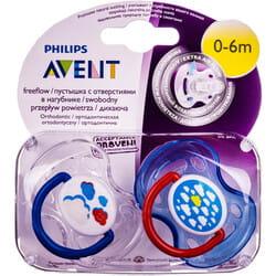 Пустышка ортодонтическая силиконовая AVENT (Авент) Fashion (Фьюжен) от 0 до 6 месяцев 2 шт