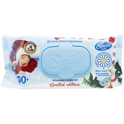 Салфетки влажные детские SMILE (Смайл) Baby (Бэби) Сок алоэ и экстракт ромашки 100 шт