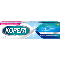 Крем для фиксации зубных протезов Корега Экстрасильный классический 40 г