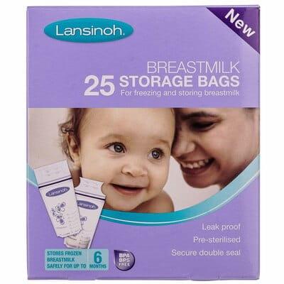Пакеты полиетиленовые LANSINOH (Лансино) для хранения и замораживания грудного молока 25 шт