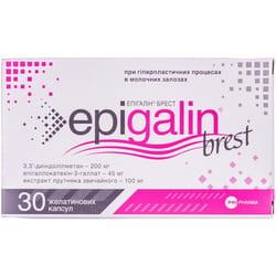 Капсулы общеукрепляющего и тонизирующего действия для женщин Эпигалин Брест 2 блистера по 15 шт
