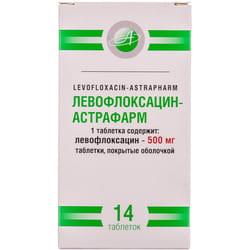 Левофлоксацин-Астрафарм табл. п/о 500мг №14