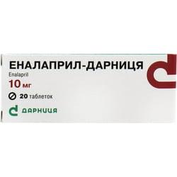Эналаприл-Дарница табл. 10мг №20