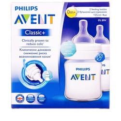 Бутылочка для кормления AVENT (Авент) Classic+ (Классик) 2 шт по 125 мл