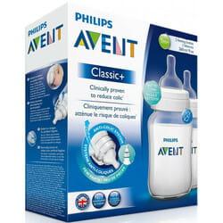 Бутылочка для кормления AVENT (Авент) Classic+ (Классик) 2 шт по 260 мл