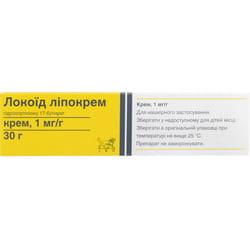 Локоид липокрем крем 1мг/г туба 30г