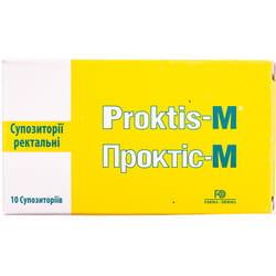 Проктис-М (Proktis-M) суппозитории (свечи) ректальные по 2 г от геморроя 10 шт