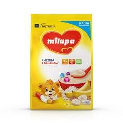 Каша молочная детская Нутриция Milupa (Милупа) Рисовая с бананом с 5-ти месяцев мягкая упаковка 210 г