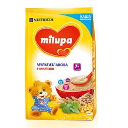 Каша молочная детская Нутриция Milupa (Милупа) Мультизлаковая с мелисой с 7-ми месяцев мягкая упаковка 210 г