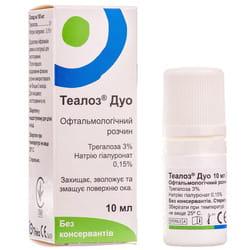 Раствор стерильный офтальмологический Теалоз Дуо для увлажнения глаза флакон 10 мл
