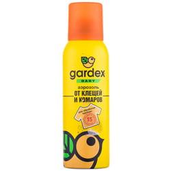 Аэрозоль от комаров и клещей GARDEX BABY (Гардекс беби) на детскую одежду 100мл