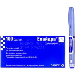 Эпайдра р-р д/ин.100 ЕД/мл шприц-ручка Соло-Стар 3мл №5