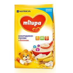 Каша молочная детская Нутриция Milupa (Милупа) Кукурузно-рисовая с бананом с 5-ти месяцев мягкая упаковка 210 г