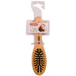 Щётка для волос TITANIA (Титания) артикул 2820 массажная, деревянная, 6 рядов