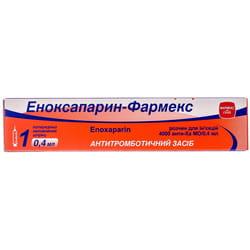 Эноксапарин-Фармекс р-р д/ин. 4000 анти-Ха МЕ/0,4мл шприц 0,4мл №1