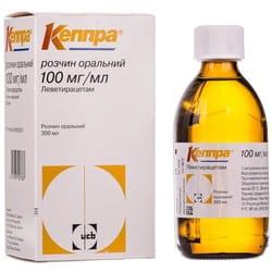 Кеппра р-р орал. 100мг/мл фл. 300мл