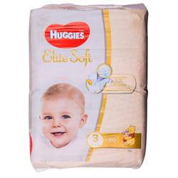 Подгузники для детей HUGGIES (Хаггис) Elite Soft (Элит софт) 3 от 5 до 9 кг 80 шт