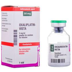 Оксалиплатин-Виста пор. д/п р-ра д/инф. фл. 50мг №1