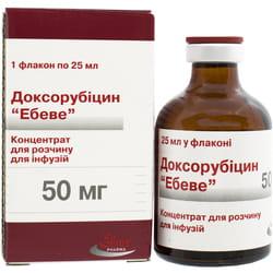 Доксорубицин конц. д/р-ра д/инф. 50мг фл. 25мл №1***