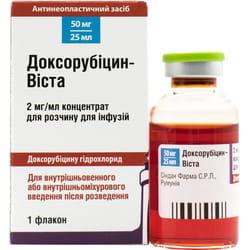 Доксорубицин-Виста конц. д/р-ра д/инф. 2мг/мл фл. 25мл (50мг) №1***