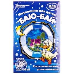 Фитованна детская №6 Ключи Здоровья Баю-Бай растительная смесь успокаивающая в фильтр-пакетах по 30 г 3 шт