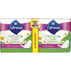 Прокладки гигиенические женские LIBRESSE (Либресс) Natural Care Ultra Normal (Нейчерал кеа ультра нормал) 20 шт