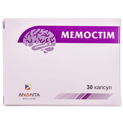 Диетическая добавка для улучшения работы головного мозга Мемостим капсулы 3 блистера по 10 шт