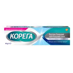 Крем для фиксации зубных протезов Корега Без вкуса (нейтральный вкус) 40 г