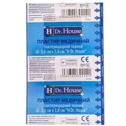Пластырь Dr. House (Доктор Хаус) бактерицидный тканевая основа размер 3,8 см х 3,8 см 1 шт