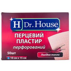 Пластырь Dr. House (Доктор Хаус) перцовый перфорированный размер 10 см x 15 см 1 шт