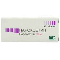 Пароксетин табл. 20мг №30