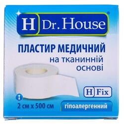 Пластырь Dr. House (Доктор Хаус) медицинский на тканной основе в бумажной упаковке размер 2см x 500см 1шт