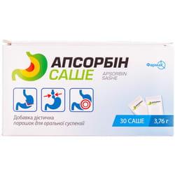 Диетическая добавка с детоксикационными и абсорбирующими свойствами Апсорбин порошок для оральной суспензии в саше 30 шт