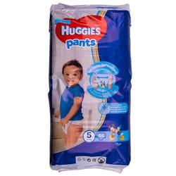 Подгузники-трусики для детей HUGGIES (Хаггис) Pants (Пентс) 5 для мальчиков от 12 до 17 кг 44 шт