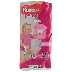 Подгузники-трусики для детей HUGGIES (Хаггис) Pants (Пентс) 5 для девочек от 12 до 17 кг 44 шт