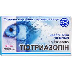 Тиотриазолина кап. глаз. 1% фл. 5мл