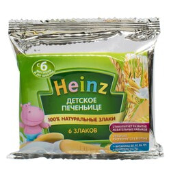 Печенье детское HEINZ (Хайнц) 6 злаков 60 г