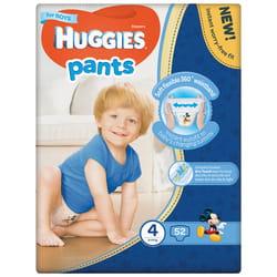 Подгузники-трусики для детей HUGGIES (Хаггис) Pants (Пентс) 4 для мальчиков от 9 до 14 кг 52 шт