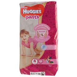 Подгузники-трусики для детей HUGGIES (Хаггис) Pants (Пентс) 4 для девочек от 9 до 14 кг 52 шт