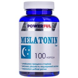 Капсулы мягкого успокоительного действия POWERFUL (Поверфул) с содержанием мелатонина 1 мг Мелатонин банка 100 шт