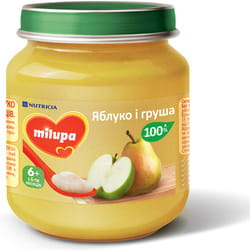 Пюре фруктовое детское Нутриция Milupa (Милупа) Яблоко и груша с 6-ти месяцев 125 г