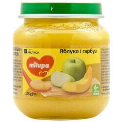 Пюре фруктовое детское Нутриция Milupa (Милупа) Яблоко и тыква с 6-ти месяцев 125 г