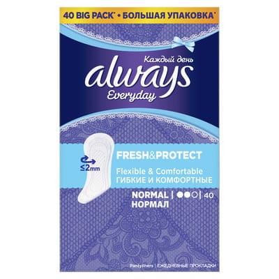 Прокладки ежедневные женские ALWAYS (Олвейс) Normal (Нормал) 40 шт